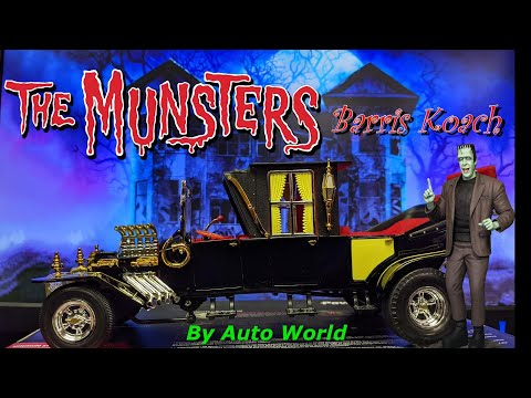 1/18 Diecast Munsters Koach Model Car Unboxing and Review of the Barris Koach by Auto World