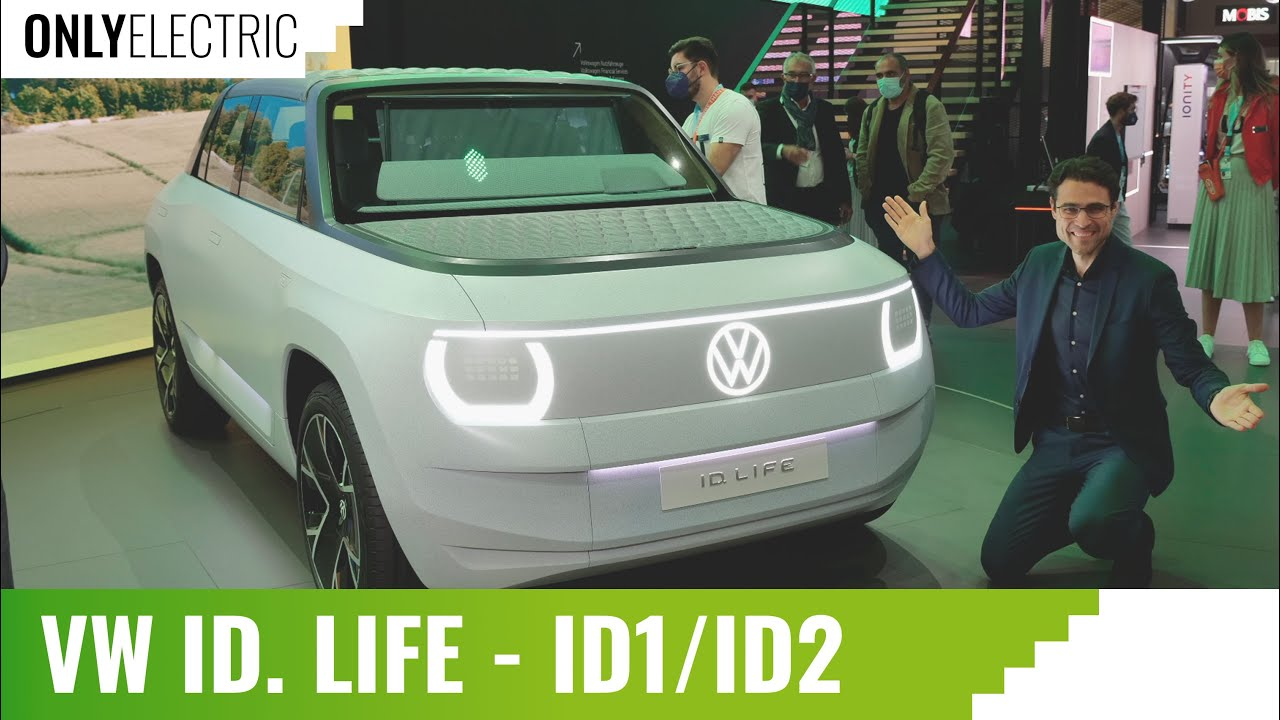 VW ID Life – 20,000 $ Volkswagen EV that shows the Small Electric VW ID2 or VW ID1