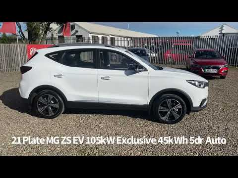 21 Plate MG ZS EV 105kW Exclusive 45kWh 5dr Auto